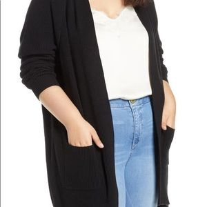 bp Sweaters - Burgundy BP ribbed cardigan with 2 pockets